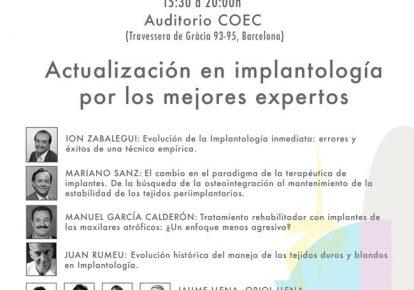Dr García Calderón en Symposium 30 años implantología